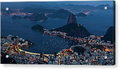Aerial View Of City From Christ Acrylic Print by Panoramic Images
