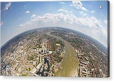 Aerial View Of City, London, England, Uk Acrylic Print by Mattscutt