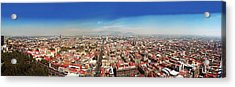 Aerial View Of Cityscape, Mexico City Acrylic Print