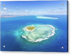 Aerial View Of Heart Shaped Island Acrylic Print by Matteo Colombo