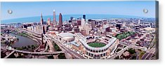 Aerial View Of Jacobs Field, Cleveland Acrylic Print by Panoramic Images