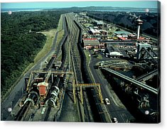 Aerial View Of Large Coal Export Acrylic Print