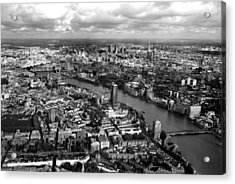 Aerial View Of London Acrylic Print by Mark Rogan
