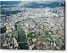 Aerial View Of London, River Thames Acrylic Print by Urbancow