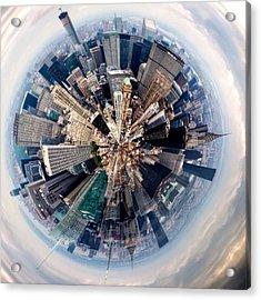 Aerial View Of Modern City Acrylic Print by John Mcintosh / Eyeem