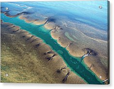 Aerial View Of Montgomery Reef Acrylic Print by Laurenepbath