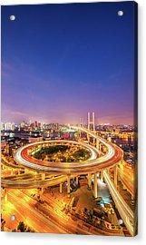Aerial View Of Nanpu Bridge Acrylic Print by Fei Yang