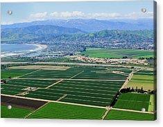 Aerial View Of Oxnard Farm Fields Acrylic Print