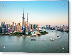 Aerial View Of Shanghai Acrylic Print by Fei Yang