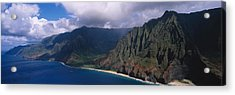 Aerial View Of The Coast, Na Pali Acrylic Print by Panoramic Images
