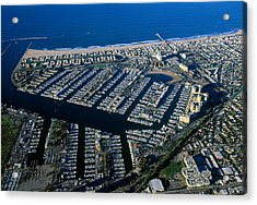 Aerial View Of The Marina Del Rey, Los Acrylic Print by Panoramic Images