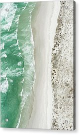 Aerial View Of The Sixteen Mile Beach Acrylic Print by Peter Chadwick