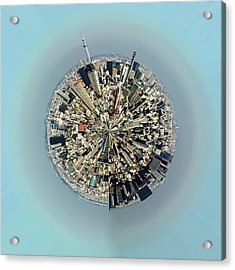 Aerial View Of Urban Landscape Of Tokyo Acrylic Print by Photography By Zhangxun