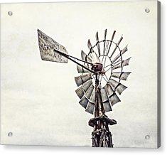 Aermotor Windmill In Grapevine Texas Acrylic Print