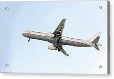 Aeroplane In Sky Acrylic Print by Wladimir Bulgar
