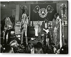Aerosmith - Aerosmith Tour 1973 Acrylic Print by Epic Rights