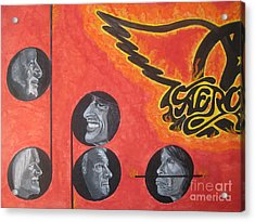 Acrylic Print featuring the painting Aerosmith Art Painting 40th Anniversary by Jeepee Aero