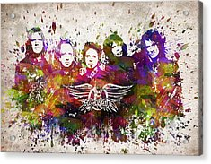 Aerosmith In Color Acrylic Print by Aged Pixel
