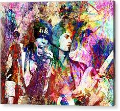 Aerosmith Original Painting Acrylic Print by Ryan Rock Artist