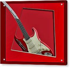 Aerosmith Rockn Roller Guitar Acrylic Print by Thomas Woolworth