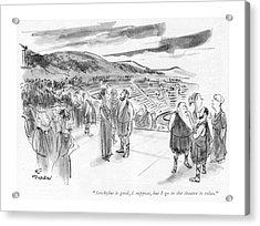 Aeschylus Is Good Acrylic Print by James Stevenson