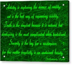 Aesthetic Quote 1 Acrylic Print
