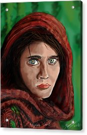Afghan Girl Acrylic Print by Sasank Gopinathan
