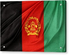 Afghanistan Flag Acrylic Print by Les Cunliffe