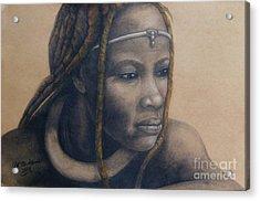 Afican Woman Acrylic Print