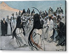 Africa 1901. The Dance Of The Sabre Acrylic Print by Everett