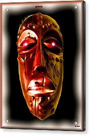Acrylic Print featuring the digital art Africa by Daniel Janda