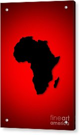 Acrylic Print featuring the digital art Africa  by Mohamed Elkhamisy