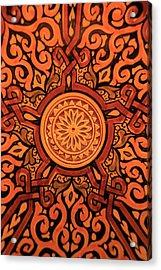 Africa, Morocco Hand-painted Glazed Acrylic Print by Kymri Wilt