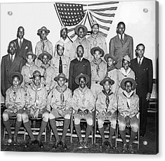 African American Boy Scouts Acrylic Print