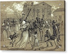 African American Soldiers Return Home From War - 1866 Acrylic Print by Daniel Hagerman