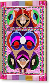 African Art Style Mascot Wizard Magic Comedy Comic Humor  Navinjoshi Rights Managed Images Clawn    Acrylic Print by Navin Joshi