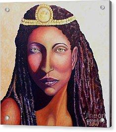 An African Face Acrylic Print