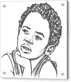 African Boy Acrylic Print by Olimpia - Hinamatsuri Barbu