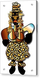 Acrylic Print featuring the digital art African Dancer 2 by Marvin Blaine