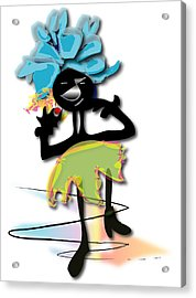 Acrylic Print featuring the digital art African Dancer 3 by Marvin Blaine