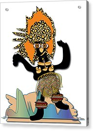 Acrylic Print featuring the digital art African Dancer 6 by Marvin Blaine