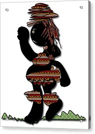 Acrylic Print featuring the digital art African Dancer 7 by Marvin Blaine