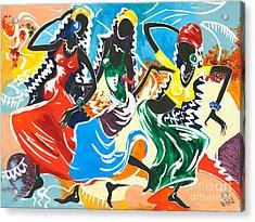 African Dancers No. 2 Acrylic Print by Elisabeta Hermann
