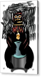 Acrylic Print featuring the digital art African Drummer 2 by Marvin Blaine