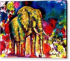 African Elephant Acrylic Print by Anastasis  Anastasi