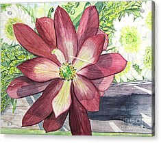 Acrylic Print featuring the painting African Flower by Carol Flagg