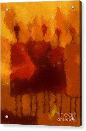 African Impression Acrylic Print