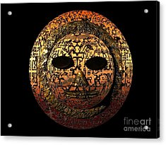 African Mask Series 1 Acrylic Print