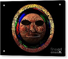 Acrylic Print featuring the digital art African Mask Series 2 by Jacqueline Lloyd