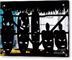 African Masks Acrylic Print by Marco Affini